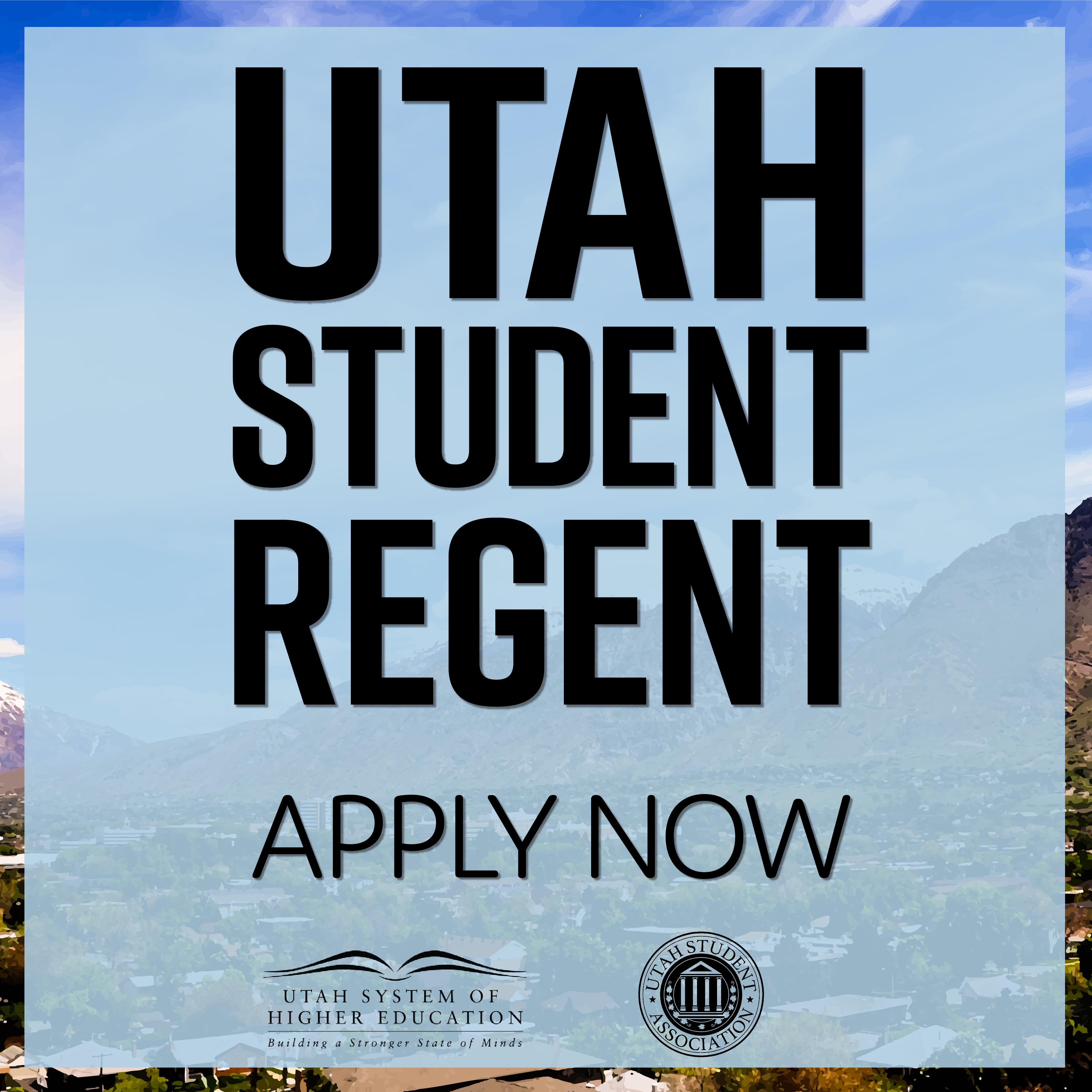 Utah Student Regent Application